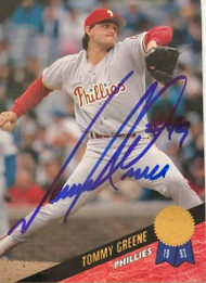 Tommy Greene Autographed 1993 Leaf #132