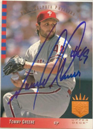 Tommy Greene Autographed 1993 SP #174