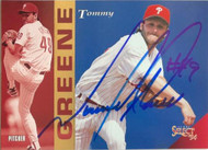 Tommy Greene Autographed 1994 Score Select #155