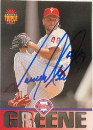 Tommy Greene Autographed 1994 Triple Play #174