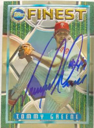 Tommy Greene Autographed 1995 Topps Finest #41