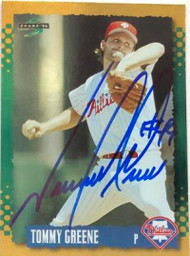 Tommy Greene Autographed 1995 Score Gold Rush #36