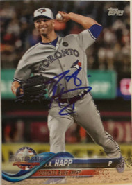 JA Happ Autographed 2018 Topps Update Blue Jays All-Star #US66