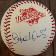 Hal Morris Autographed 1990 World Series Baseball