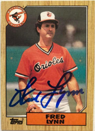 Fred Lynn Autographed 1987 Topps #370