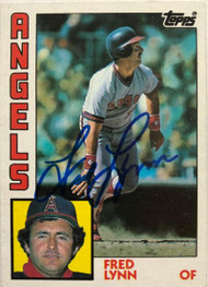 Fred Lynn Autographed 1984 Topps #680