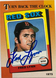 Fred Lynn Autographed 1990 Topps #663
