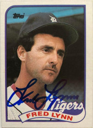 Fred Lynn Autographed 1989 Topps #416