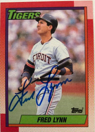 Fred Lynn Autographed 1990 Topps #107