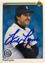 Fred Lynn Autographed 1990 Upper Deck #247