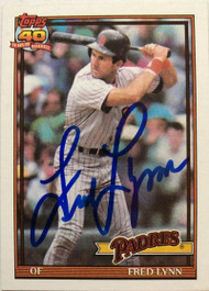 Fred Lynn Autographed 1991 Topps #586