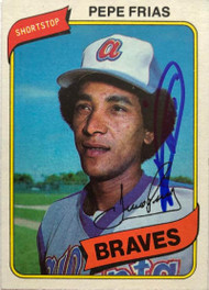 Pepe Frias Autographed 1980 Topps #87