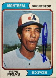 Pepe Frias Autographed 1974 Topps #468