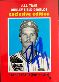 Randy Ready Autographed 1990 El Paso Diablo All TIme Great Dudley Field Exclusive #13