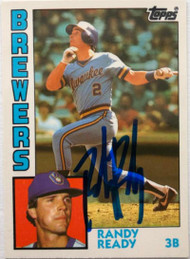 Randy Ready Autographed 1984 Topps Traded Tiffany #97T