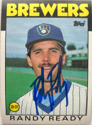 Randy Ready Autographed 1986 Topps #209