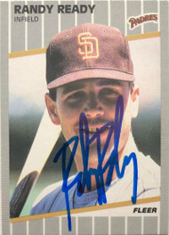 Randy Ready Autographed 1989 Fleer #315