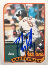 Randy Ready Autographed 1989 Topps #551
