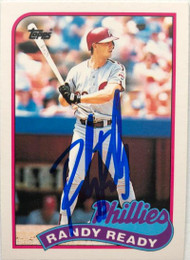 Randy Ready Autographed 1989 Topps Traded #102T