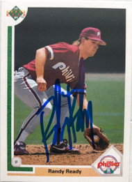 Randy Ready Autographed 1991 Upper Deck #540