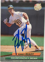 Randy Ready Autographed 1992 Fleer Ultra #427