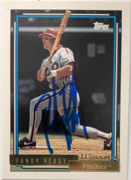 Randy Ready Autographed 1992 Topps Gold Winner #63