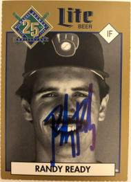 Randy Ready Autographed 1994 Miller Brewing Milwauke Brewers 25th Year Commemorative