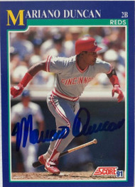 Mariano Duncan Autographed 1991 Score #479
