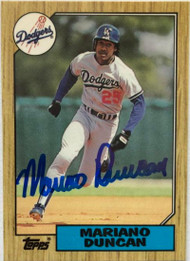 Mariano Duncan Autographed 1987 Topps Tiffany #199