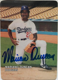 Mariano Duncan Autographed 1987 Dodgers Mother's Cookies #7