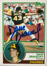 Dave Dravecky Autographed 1983 Topps #384