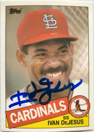 Ivan DeJesus Autographed 1985 Topps Traded Tiffany #30T