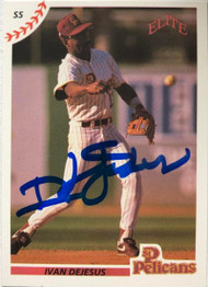 Ivan DeJesus Autographed 1990 Elite Senior League #4
