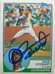 Dave Stewart Autographed 1983 Topps #532