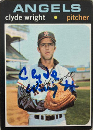 Clyde Wright Autographed 1971 Topps #240