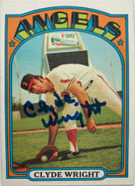 Clyde Wright Autographed 1972 Topps #55