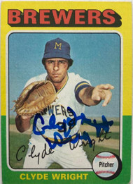 Clyde Wright Autographed 1975 Topps #408