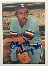 Clyde Wright Autographed 1976 SSPC #258