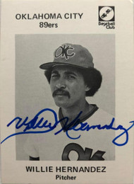 Willie Hernandez Autographed 1976 Oklahoma City 89ers Team Issue #18