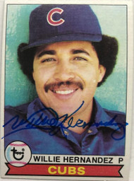 Willie Hernandez Autographed 1979 Topps #614