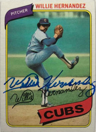 Willie Hernandez Autographed 1980 Topps #472