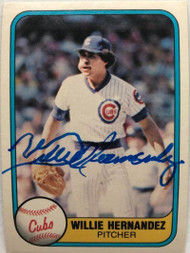 Willie Hernandez Autographed 1981 Fleer #310