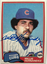 Willie Hernandez Autographed 1981 Topps #238