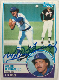 Willie Hernandez Autographed 1983 Topps #568
