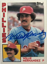 Willie Hernandez Autographed 1984 Topps #199