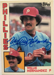 Willie Hernandez Autographed 1984 Topps Tiffany #199