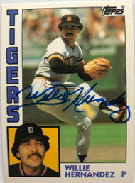 SOLD 7270 Willie Hernandez Autographed 1984 Topps Traded #51T