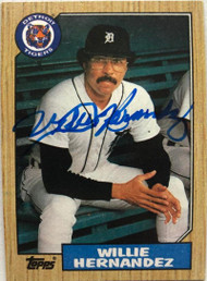 Willie Hernandez Autographed 1987 Topps #515