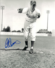 Curt Simmons Autographed Phillies  8 x 10 Photo