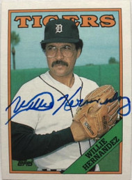 Willie Hernandez Autographed 1988 Topps #713